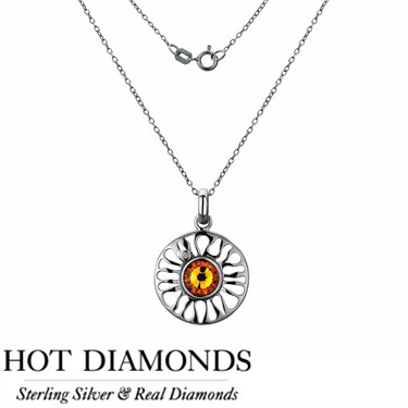 Hot Diamonds Sundial Topaz Necklace