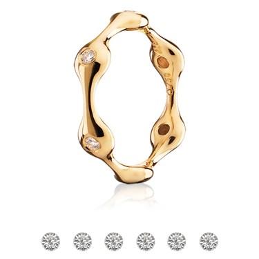 Pandora Six Pod Gold Ring