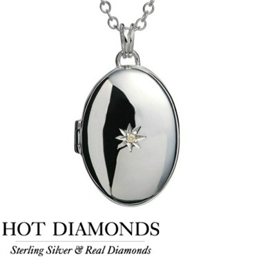 Hot Diamonds Just Add Love Locket Necklace