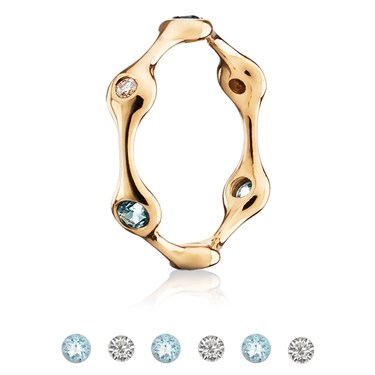 Pandora Six Pod Gold Ring