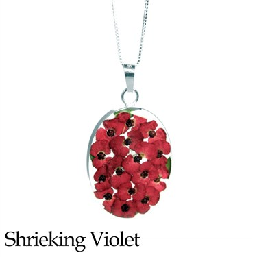 Shrieking Violet Poppy Cluster Necklace