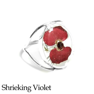 Shrieking Violet Poppy Ring