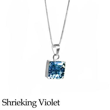 Shrieking Violet Gypsophila Square Necklace