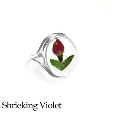 Shrieking Violet Rosebud Ring