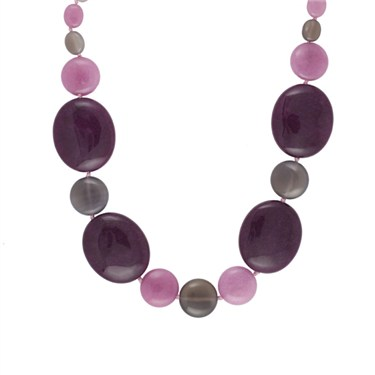 Lola Rose Nini Black Cherry Agate Necklace