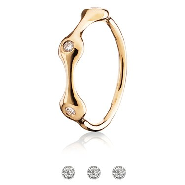 Pandora Three Pod Gold Pave Ring
