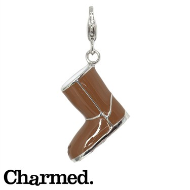 Charmed Snow Boot Charm - Click to view larger image