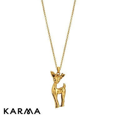 Karma Deer Pendant Necklace