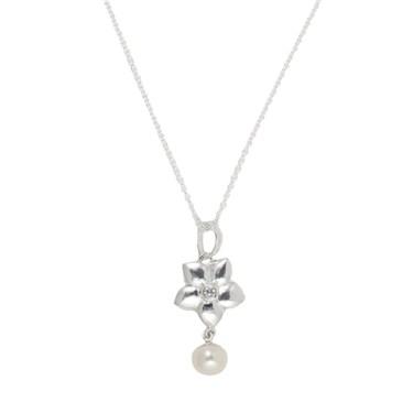 Argento Flower Drop Necklace