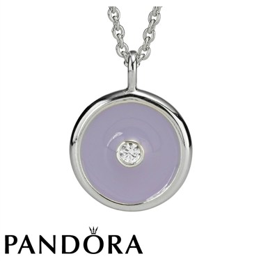 Pandora Lavender Promises Necklace