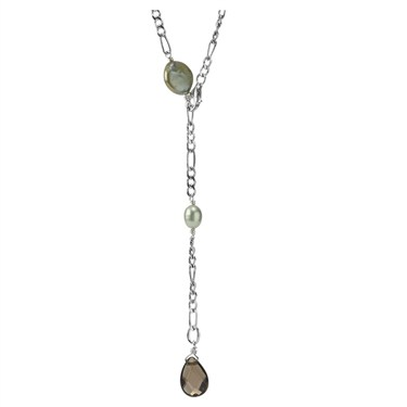 Pandora Lime Pearl Drop Necklace