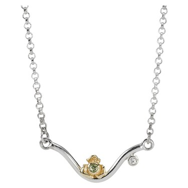 Pandora Peridot Rose Necklace