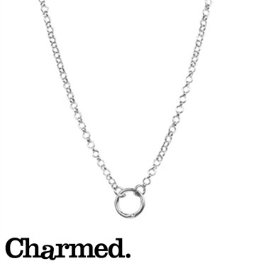 Charmed Hoop Charm Carrier Necklace