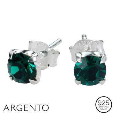 Argento May Birthstone Studs