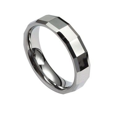 Guise Tungsten Cut Pattern Ring