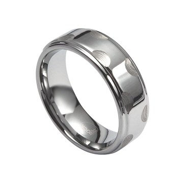 Guise Stainless Steel Ring with Circles