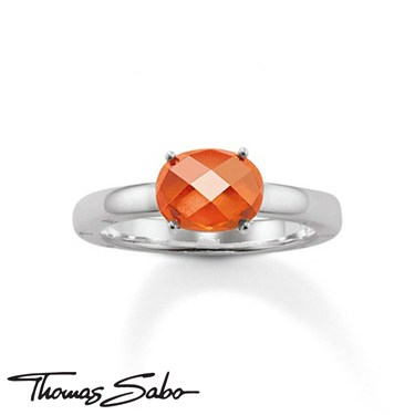 Thomas Sabo Orange Crystal Ring