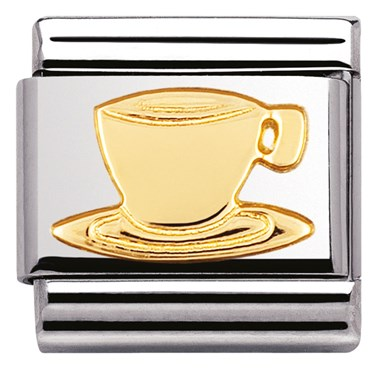 Nomination Coffee Cup Charm  - Click to view larger image
