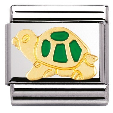 Nomination Green Turtle Charm  - Click to view larger image