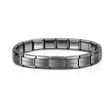 Nomination Classic Gunmetal Base Bracelet - Click to view larger image 262b3cf12a3e