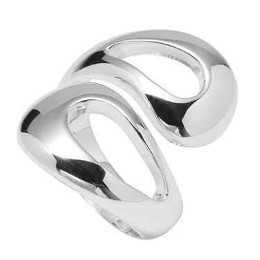 Argento Silver Teardrop Wrap Ring