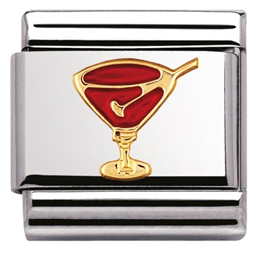 Nomination Red Cocktail Charm