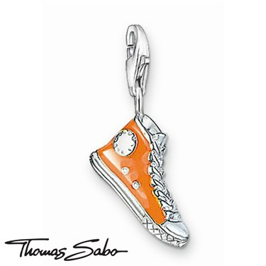 Thomas Sabo Orange Sneaker Charm  - Click to view larger image