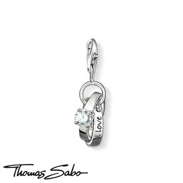 Thomas Sabo Wedding Rings Charm  - Click to view larger image