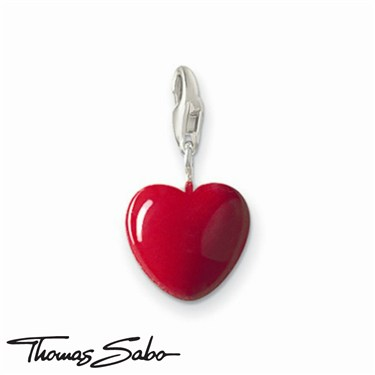 Thomas Sabo Red Heart Charm - Click to view larger image