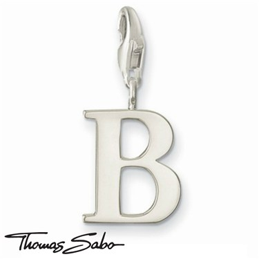 Thomas Sabo Silver Letter B Charm  - Click to view larger image