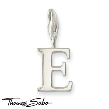 Thomas Sabo Silver Letter E Charm  - Click to view larger image