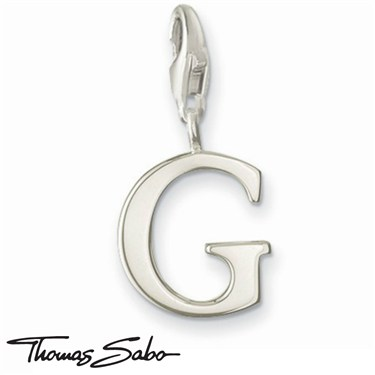 Thomas Sabo Silver Letter G Charm  - Click to view larger image
