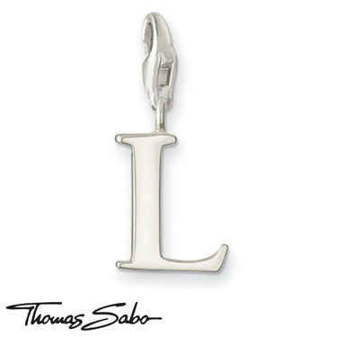 Thomas Sabo Silver Letter L Charm  - Click to view larger image