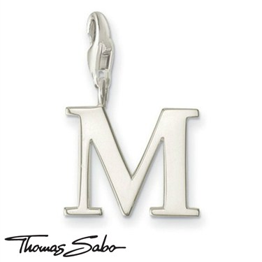 Thomas Sabo Silver Letter M Charm  - Click to view larger image