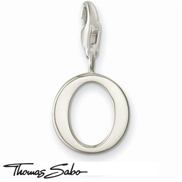 Thomas Sabo Silver Letter O Charm  - Click to view larger image