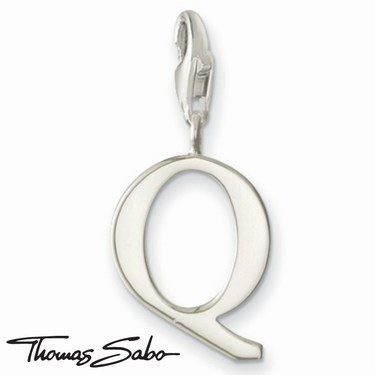 Thomas Sabo Silver Letter Q Charm  - Click to view larger image