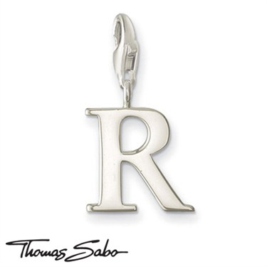 Thomas Sabo Silver Letter R Charm  - Click to view larger image