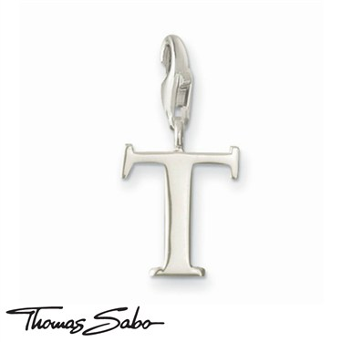 Thomas Sabo Silver Letter T Charm  - Click to view larger image