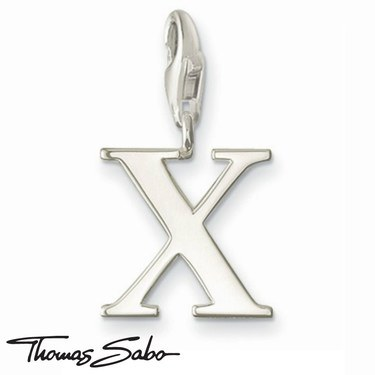 Thomas Sabo Silver Letter X Charm  - Click to view larger image