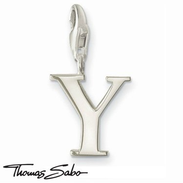 Thomas Sabo Silver Letter Y Charm  - Click to view larger image