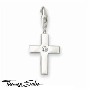 Thomas Sabo Crystal Cross Charm  - Click to view larger image