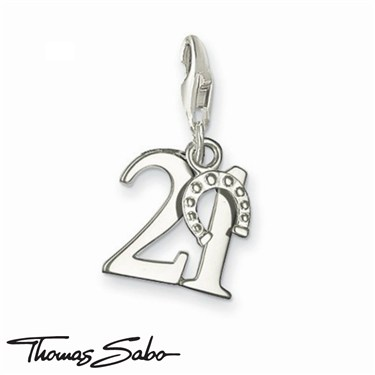Thomas Sabo Lucky Number 21 Charm  - Click to view larger image