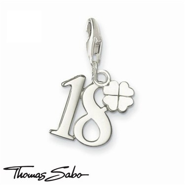 Thomas Sabo Lucky Number 18 Charm  - Click to view larger image