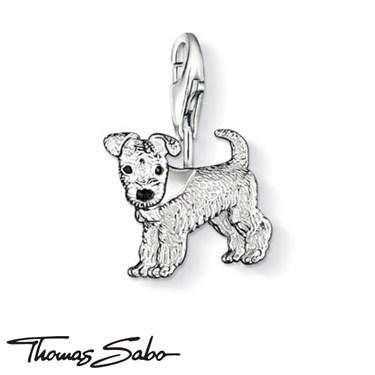 Thomas Sabo Black Dog Charm  - Click to view larger image