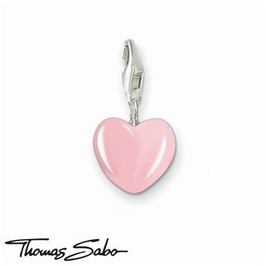 Thomas Sabo Pink Heart Charm  - Click to view larger image