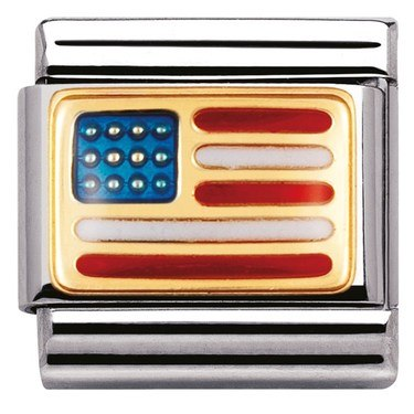 Nomination USA Flag Charm  - Click to view larger image