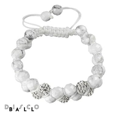 Disco Ball Howlite Crystal Bracelet