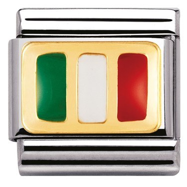 Nomination Italian Flag Charm  - Click to view larger image