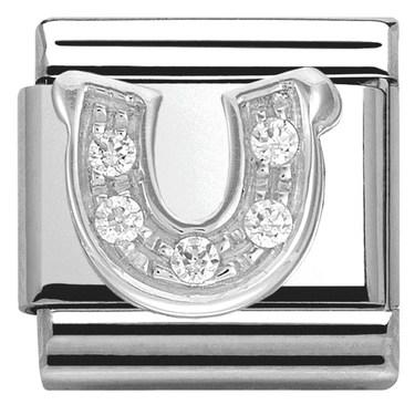 Nomination Cubic Zirconia Horseshoe Charm