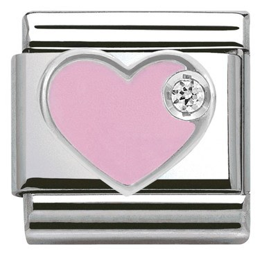Nomination Pink Heart Charm  - Click to view larger image
